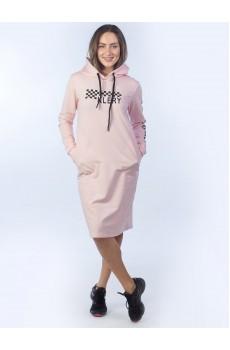 Платье из футера розовое ФП1357П6