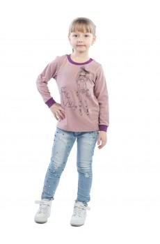 Лонгслив детский КЛЛ5007П1 розовый