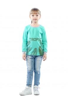 Лонгслив детский TROPIC КЛЛ5007П2 мятный