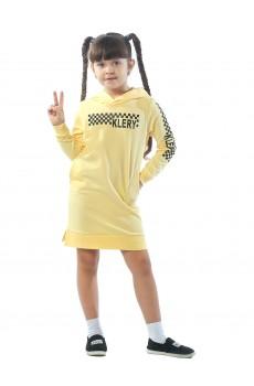 Платье детское Klery шашки ФП5013П1 желтый