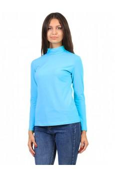 Водолазка  ЛВ0295 Женская без принта длинное горло голубой