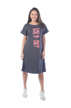 Платье женское Sold out КП1430П2 серый графит