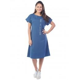 Платье женское What is required  КП1430П3 синий