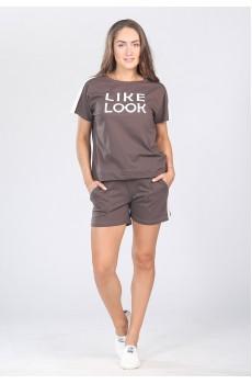 Костюм женский Like look КК1341П2 коричневый