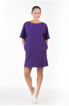 Платье из футера Фиолетовое ФП1337