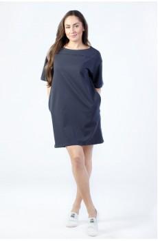 Платье из футера серое ФП1337П1