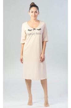Ночная сорочка Sleeping Beauty бежевая КС1366П1