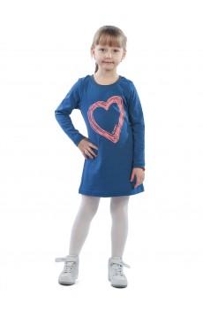 Платье детское Klеry в сердце КП5027П1 синий