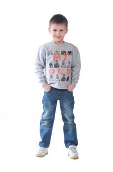 Свитшот детский MY OLD ФС5023П1 серый меланж