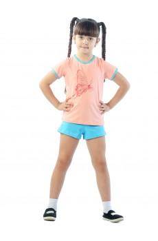 Комплект детский девочка ККД1011П1 персиковый бабочки