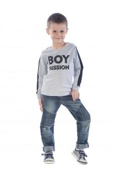 Свитшот детский Boy session ФС5016П2 серый меланж