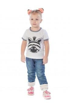 Футболка детская КФ1060а с принтом Зебра