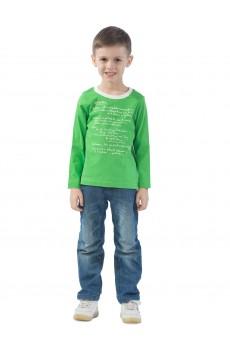 Лонгслив детский  КЛ5006П6 зеленый