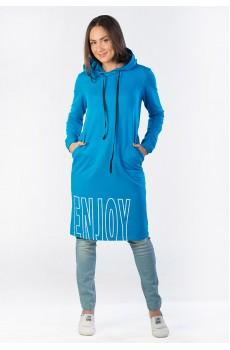 Платье из футера ENJOY бирюзовое ФП1357П2