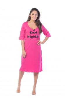 Ночная сорочка Cool Night КС1366П2 темно-розовая