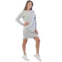 Платье из футера  ФП1406П4 серый-меланж