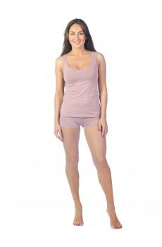 Майка женская  КЛМ1375 темно-розовая