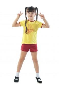 Комплект детский девочка ККД1011П1 желтый бабочки
