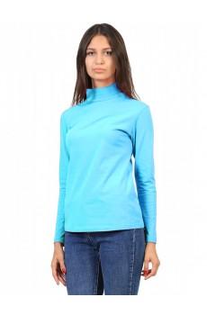 Водолазка  ЛВ0296 Женская без принта короткое горло синий