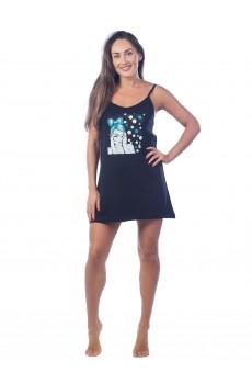 Ночная сорочка Девушка КЛС1379П2 черный