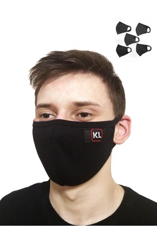 Маска защитная черная с окантовкой KLERY М1442УП5