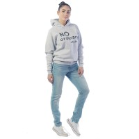 Худи женское No ordinary style ФХ1416П1 серый меланж