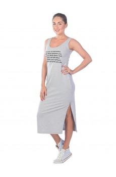 Платье из футера The law of attraction ФП1399П1 серый меланж