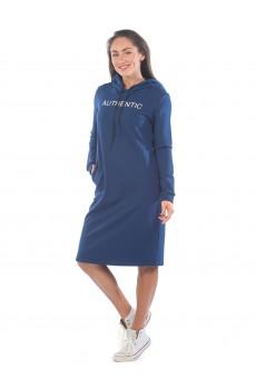 Платье из футера AUTHENTIC ФП1357П8 темно-синий